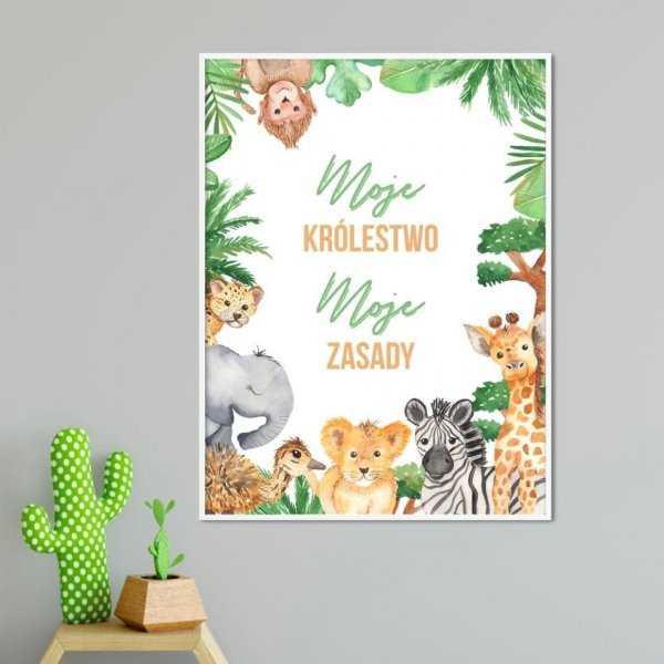 Plakat dla dzieci - MOJE KRÓLESTWO, MOJE ZASADY