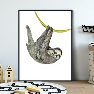 Plakat dla dzieci - SLOTHY ART