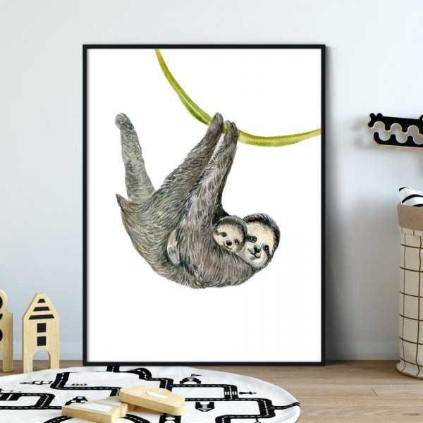 Plakat Dla Dzieci Slothy Art