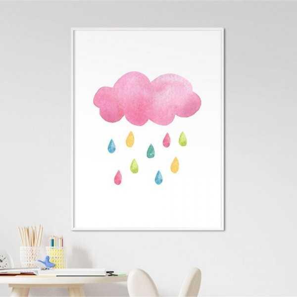 Plakat dla dzieci - RAINBOW RAIN