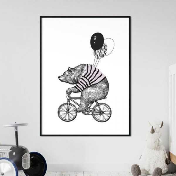 Plakat dla dzieci - RIDING BEAR