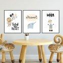 Zestaw plakatów dziecięcych - HOLA BABY