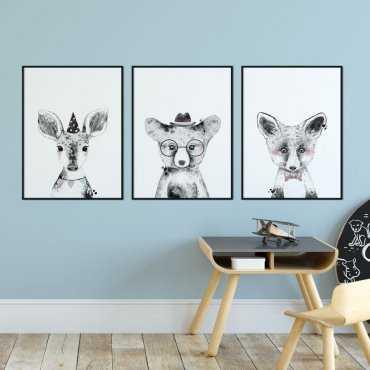 Zestaw plakatów dziecięcych - ELEGANT TRIO