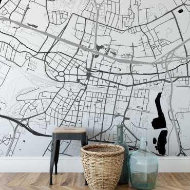 tapeta z mapą katowic
