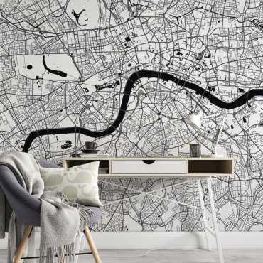 Tapeta z mapą Londynu