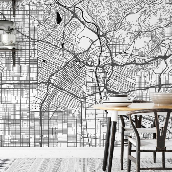 tapeta z mapą Los Angeles