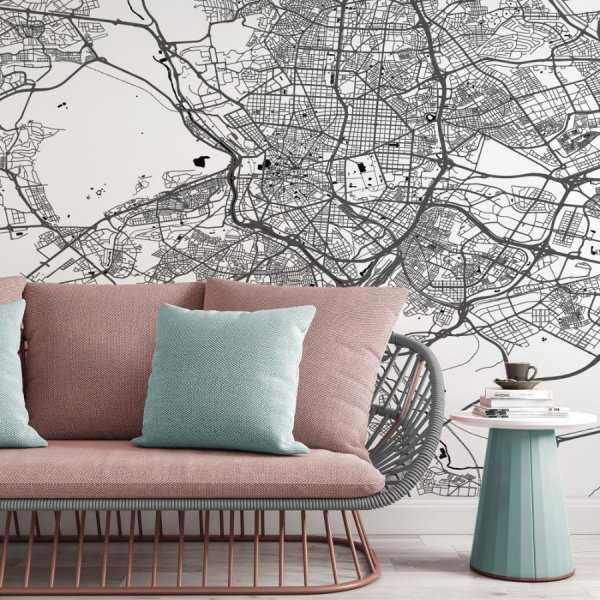 tapeta z mapą Madrytu