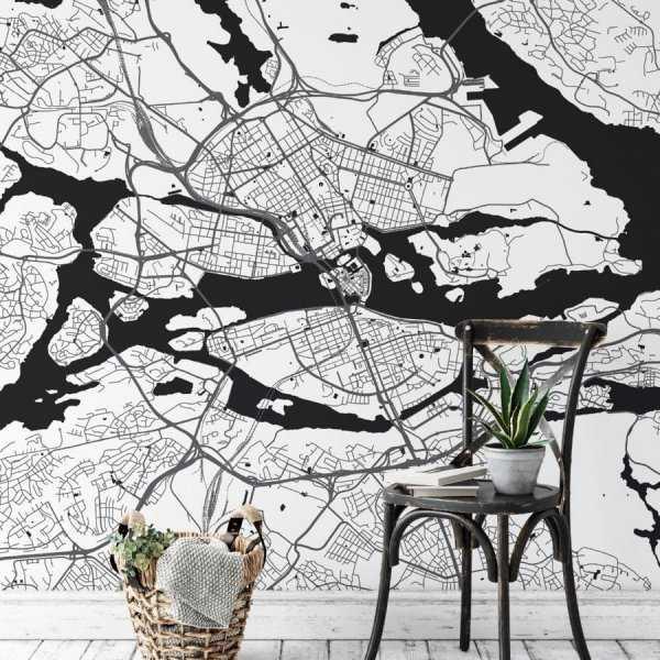 Tapeta z mapą Sztokholmu