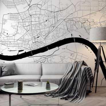 tapeta z mapą Torunia