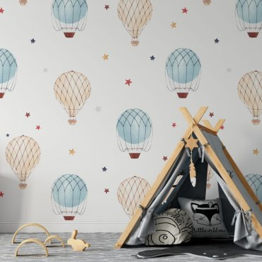 air balloons & stars tapeta