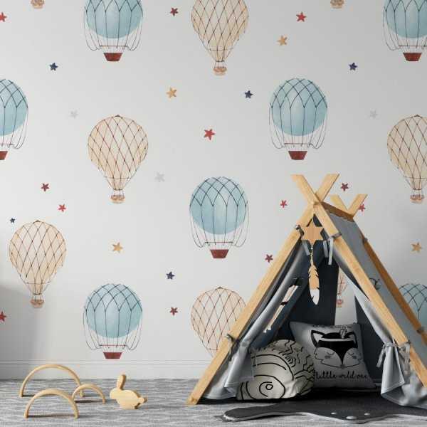 air balloons & stars tapeta