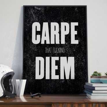 CARPE (that f) DIEM- Plakat Typograficzny