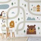 beartwon map tapeta dziecięca