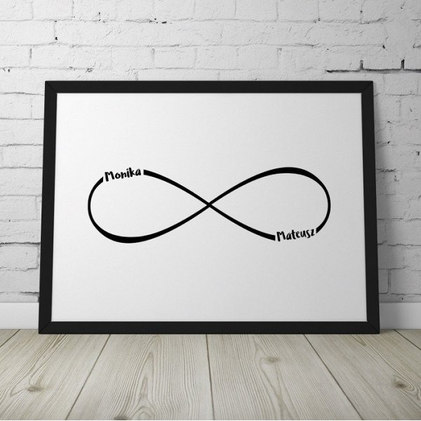 NIESKOŃCZONOŚĆ - Personalizowany plakat dla pary