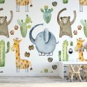 happy safari tapeta w zwierzątka