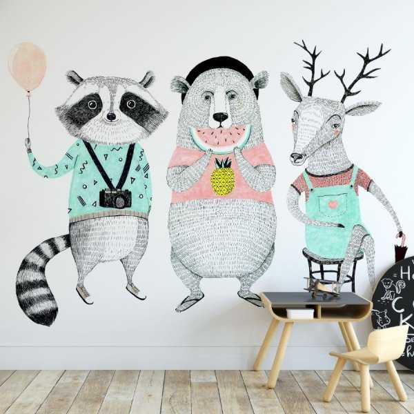 hipsta friends tapeta w zwierzęta