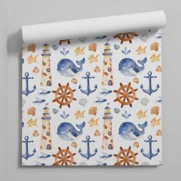 marine whales tapeta dla dzieci