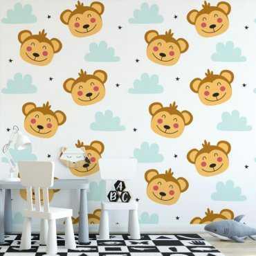 monkey sky tapeta dla dzieci