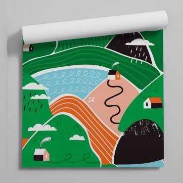 Natural village tapeta dla dzieci