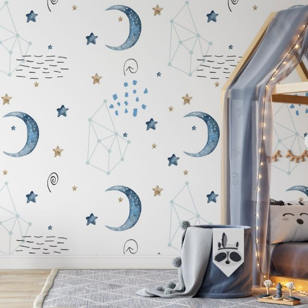 night light tapeta na ścianę