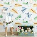 paper planes art tapeta dla dzieci