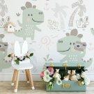 pastel dino tapeta dla dzieci