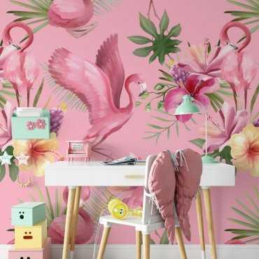 princess flamingo tapeta dla dzieci