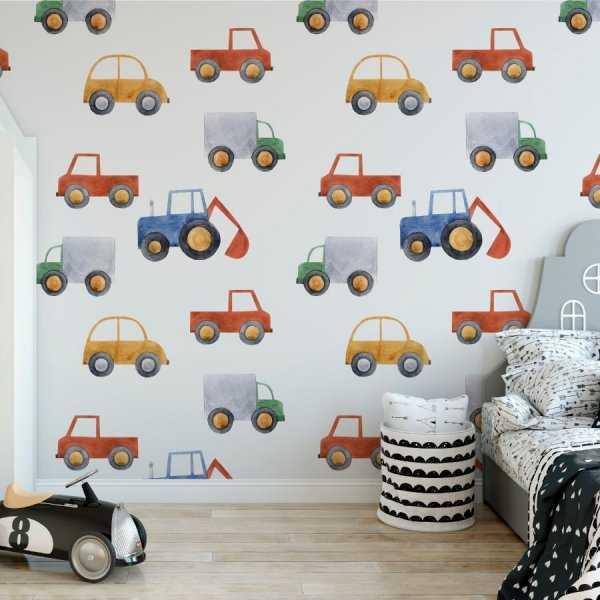 rainbowcars tapeta na ścianę