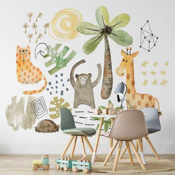 tapeta dla dzieci safari art