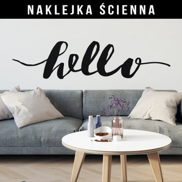 HELLO - Naklejka ścienna w skandynawskim stylu