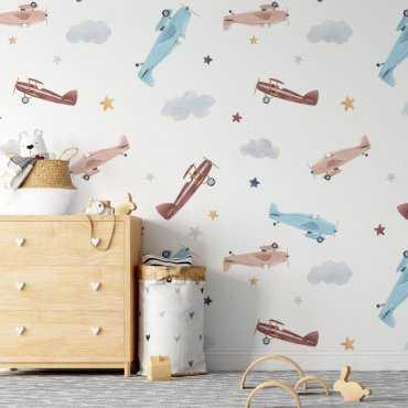 starry planes tapeta na ścianę