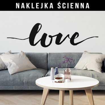 LOVE - Naklejka ścienna w skandynawskim stylu