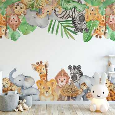 tropical zoo tapeta dla dzieci