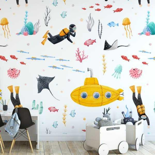 underwater fantasy tapeta dla dzieci