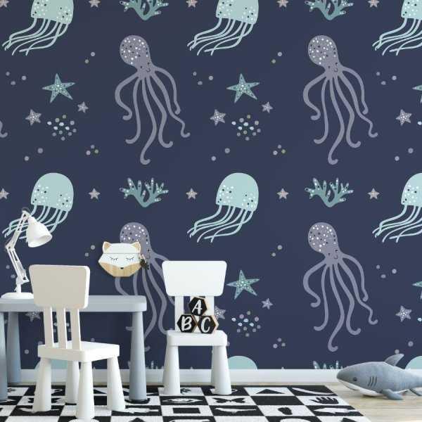 underwater medusa tapeta na ścianę