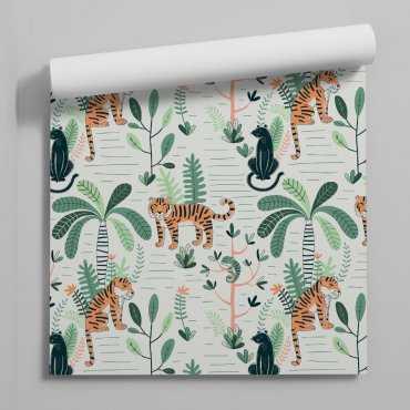 wildcats jungle tapeta dla dzieci