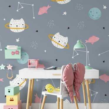 astrocats tapeta na ścianę