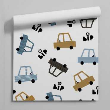 bip-bip cars tapeta dziecięca