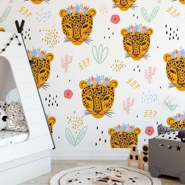 cheetah princess tapeta dla dzieci