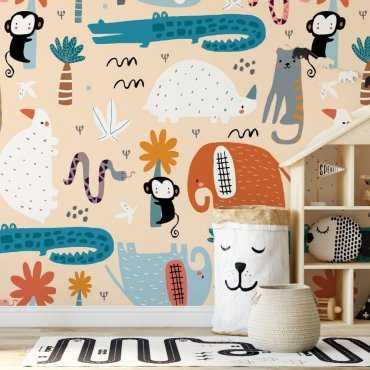 exotic animals tapeta dla dzieci
