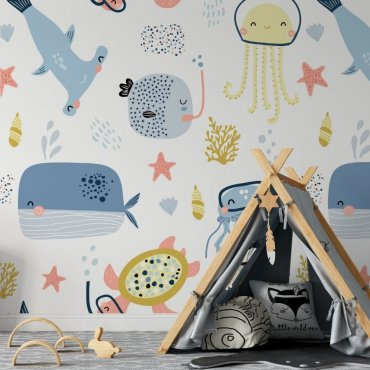 fish & friends tapeta dla dzieci
