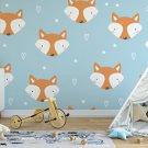 foxes in blue tapeta na ścianę