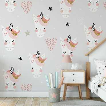 lady unicorn tapeta dziecięca