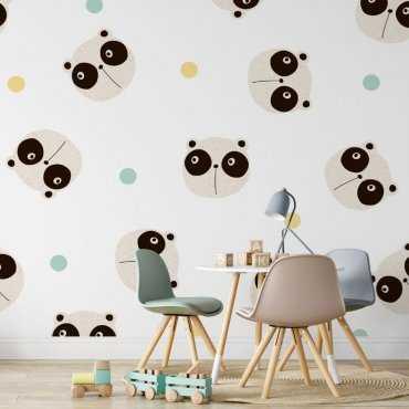 looking pandas tapeta dla dzieci