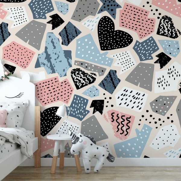 paper patchwork tapeta dla dzieci