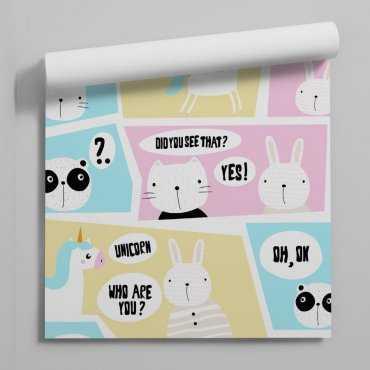 pastel comics tapeta dla dzieci