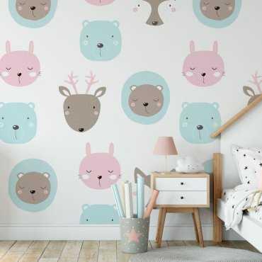 pastel company tapeta dla dzieci