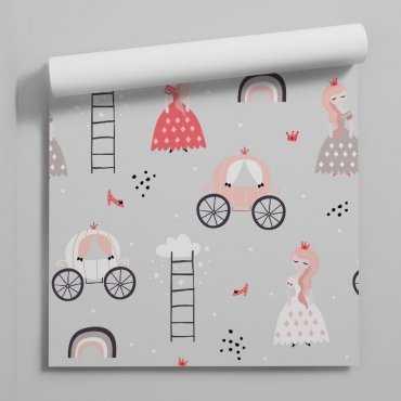 pastel princess tapeta dla dziewczynki