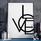 MODERN LOVE - Plakat typograficzny w ramie