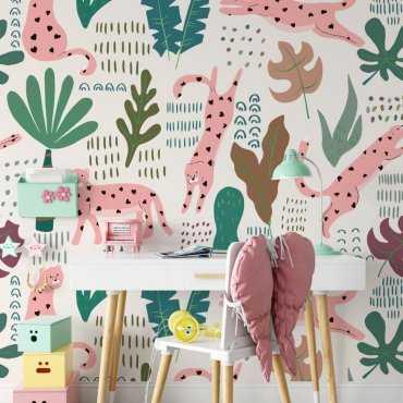 pink pantheras tapeta dla dzieci